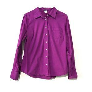 J crew Purple Button Down Shirt size Large